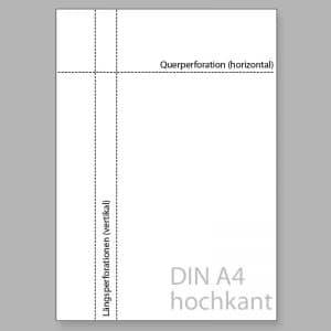 Perforiertes Papier DIN A4