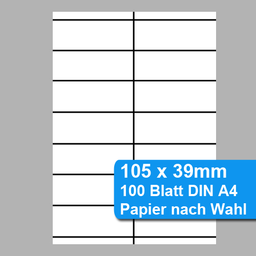 Shelf Labels 105x39mm Regaletiketten