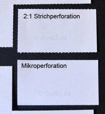Perforationsarten im Vergleich