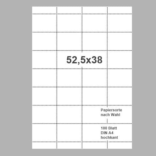 Scanner-Etiketten 52,5x38mm