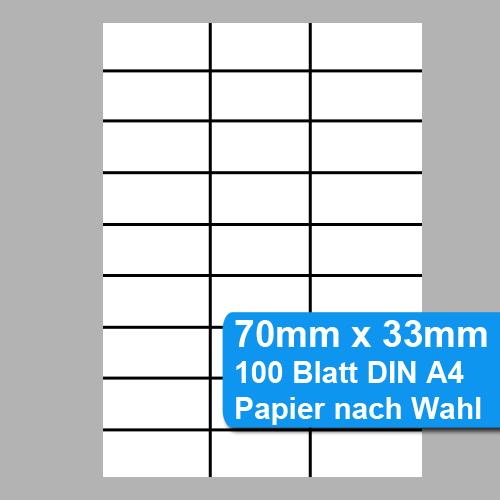 Perforiertes Papier 70x33mm