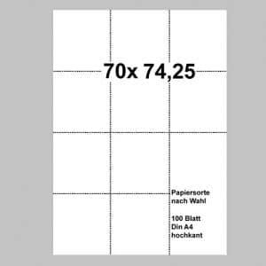 Perforiertes Papier 70 x 74,25