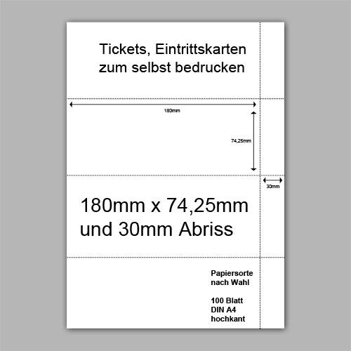Tickets, Eintrittskarten zum selbst bedrucken