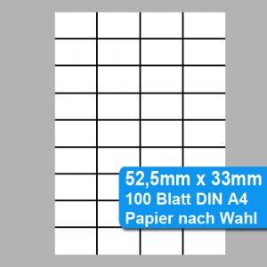 Perforiertes Papier 52,5x33mm