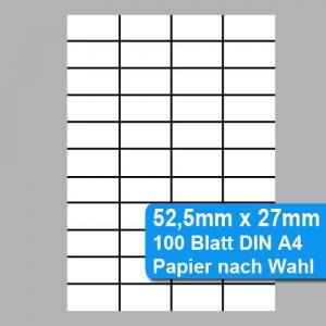 perforierte Papieretiketten 52,5mm x 27mm
