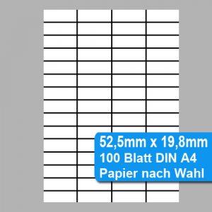 Perforiertes Papier 52,5mm x 19,8mm