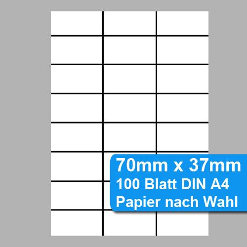 Regaletiketten 70mm x 37mm - 100 Blatt, 2400 Etiketten
