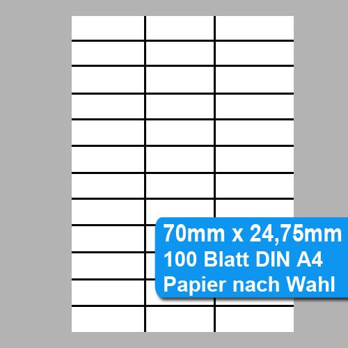Perforiertes Papier 70mm x 24,75mm