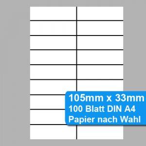 nicht klebende Etiketten 105x33mm