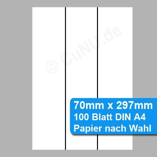Papierstreifen 70mm x 297mm perforiertes Papier