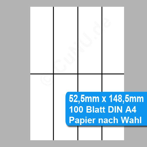 Papier perforiert auf 52x5mm x 148,5mm