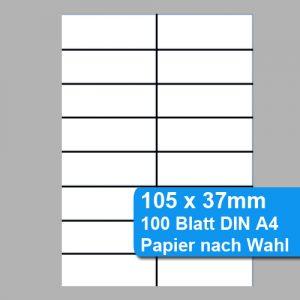Blankoschilder / Einsteckschilder 105x37mm