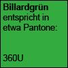 Billardgrün, Pantone 360U