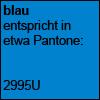 blau, Pantone 2995U