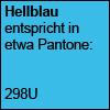 hellblau - Pantone 298U