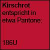 Kirschrot - Pantone 186U