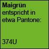 Maigrün, Pantone 374U
