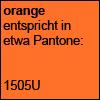 Orange entspricht in etwa Pantone 1505U