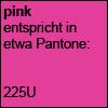 pink, Pantone 225U