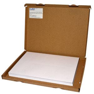 perforiertes Papier, 100 Blatt im Karton, Format Großbrief