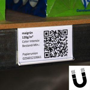 Scanneretiketten, Papier- Schilder für Etikettenhalter, 52,5mm x 38mm