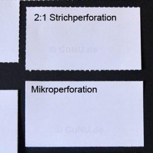 Unterschied zwischen Mikroperforation und Strichperforation